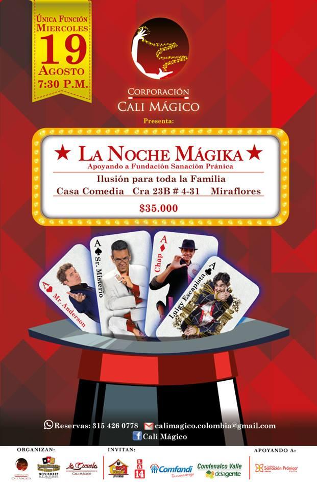 La Noche Magika Cali agosto 2015